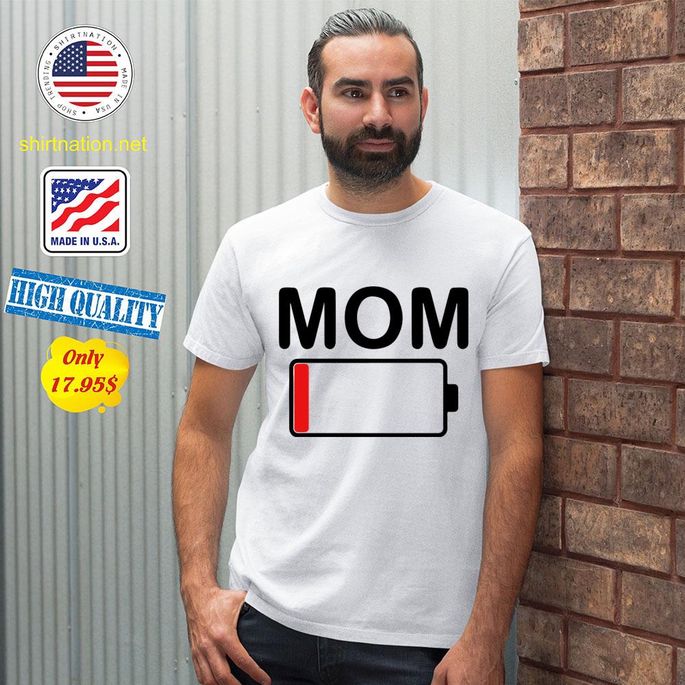 Womens mom battery low shirt 12