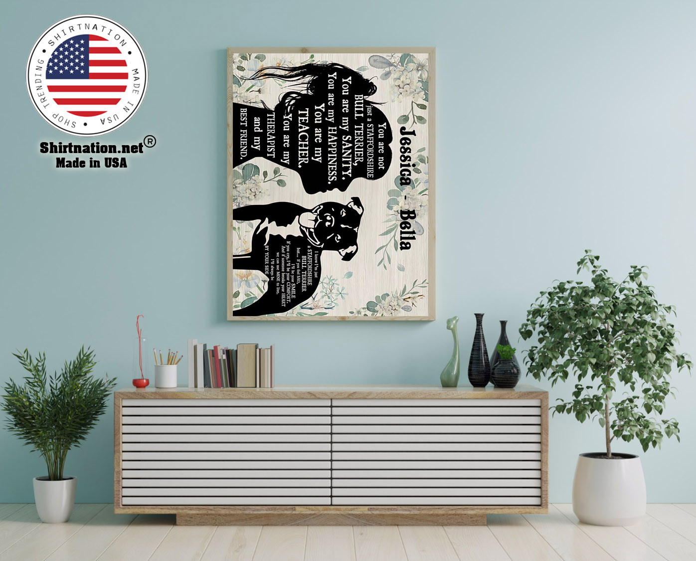 You are not just a Staffordshire custom personalized name poster 12