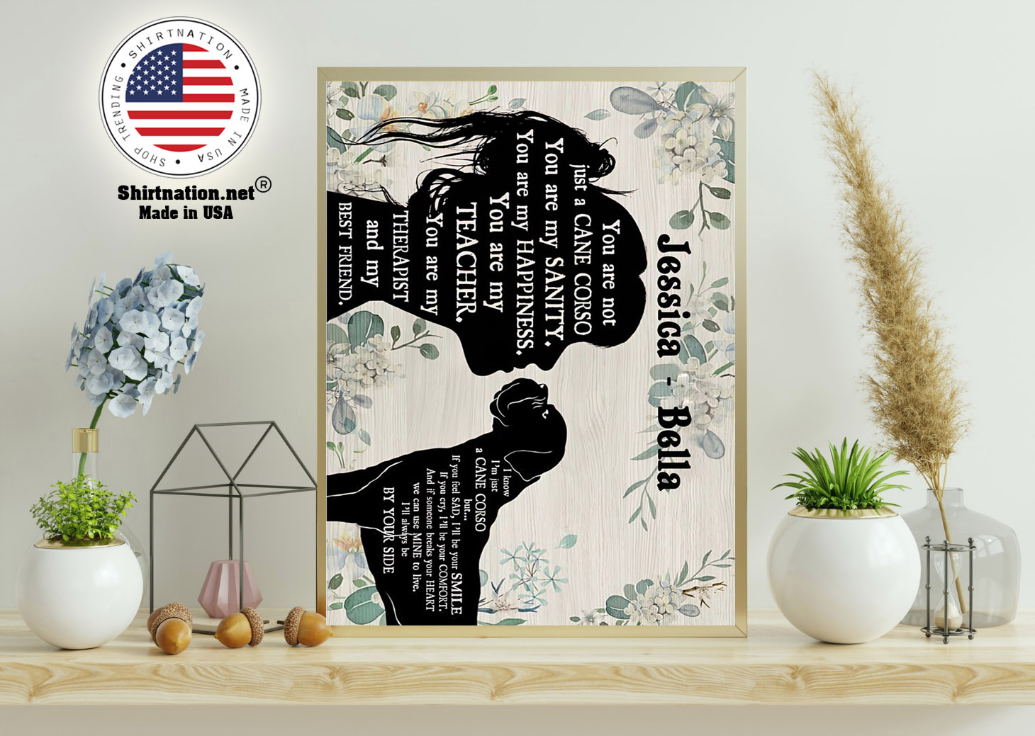 You are not just a cane corso you are my sanity custom personalized name poster 11