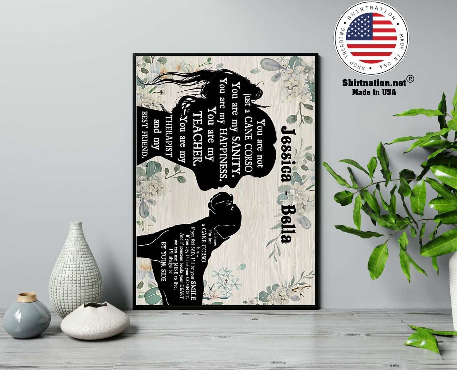 You are not just a cane corso you are my sanity custom personalized name poster 13