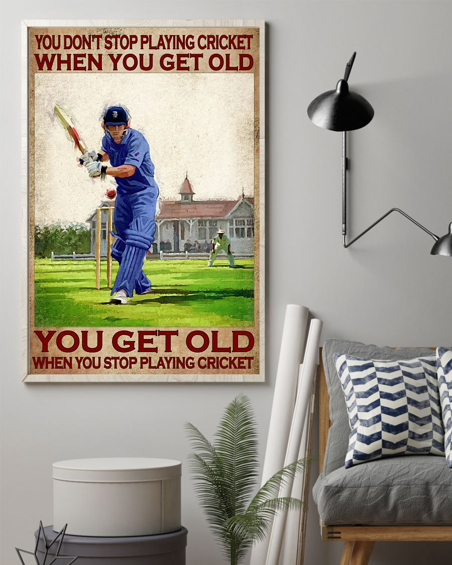 You dont stop playing cricket when you get old poster1