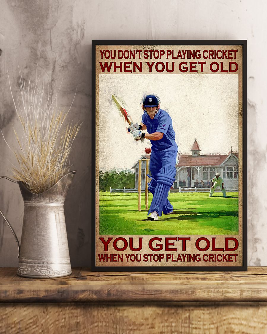 You dont stop playing cricket when you get old poster2