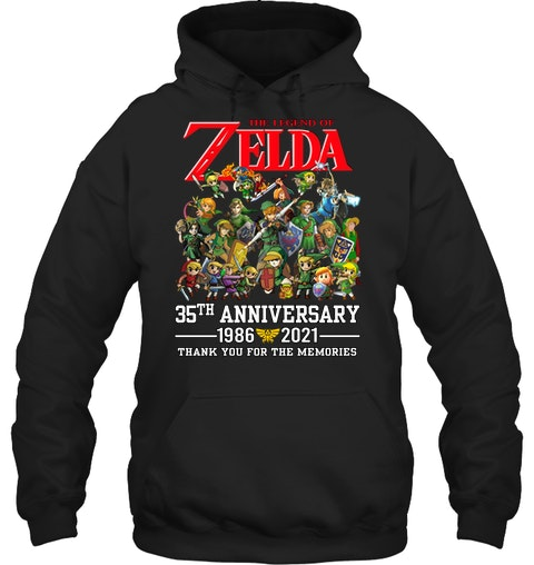 Zelda 35th anniversary 1986 2021 thank you for the memories shirt 11