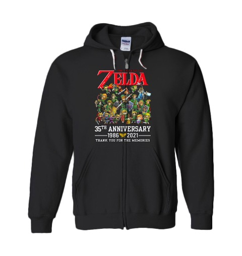 Zelda 35th anniversary 1986 2021 thank you for the memories shirt 13