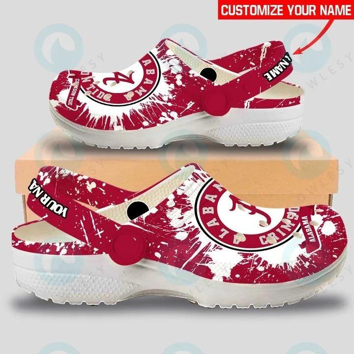 Alabama Crimison Tide custom name crocs crocband clog3