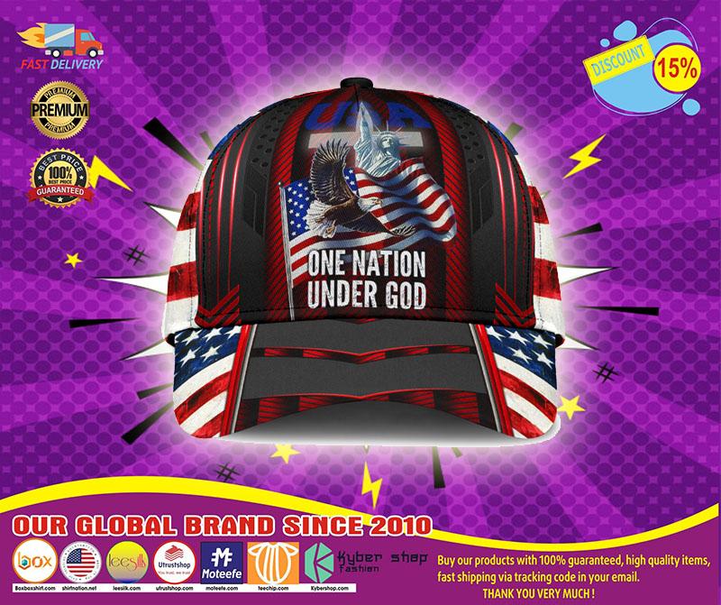 American flag Eagle one nation under god cap2