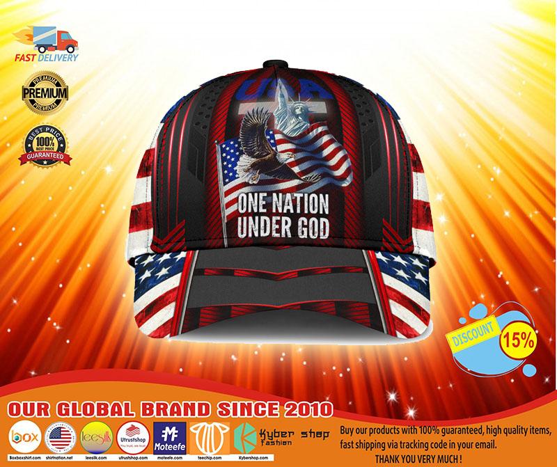 American flag Eagle one nation under god cap4