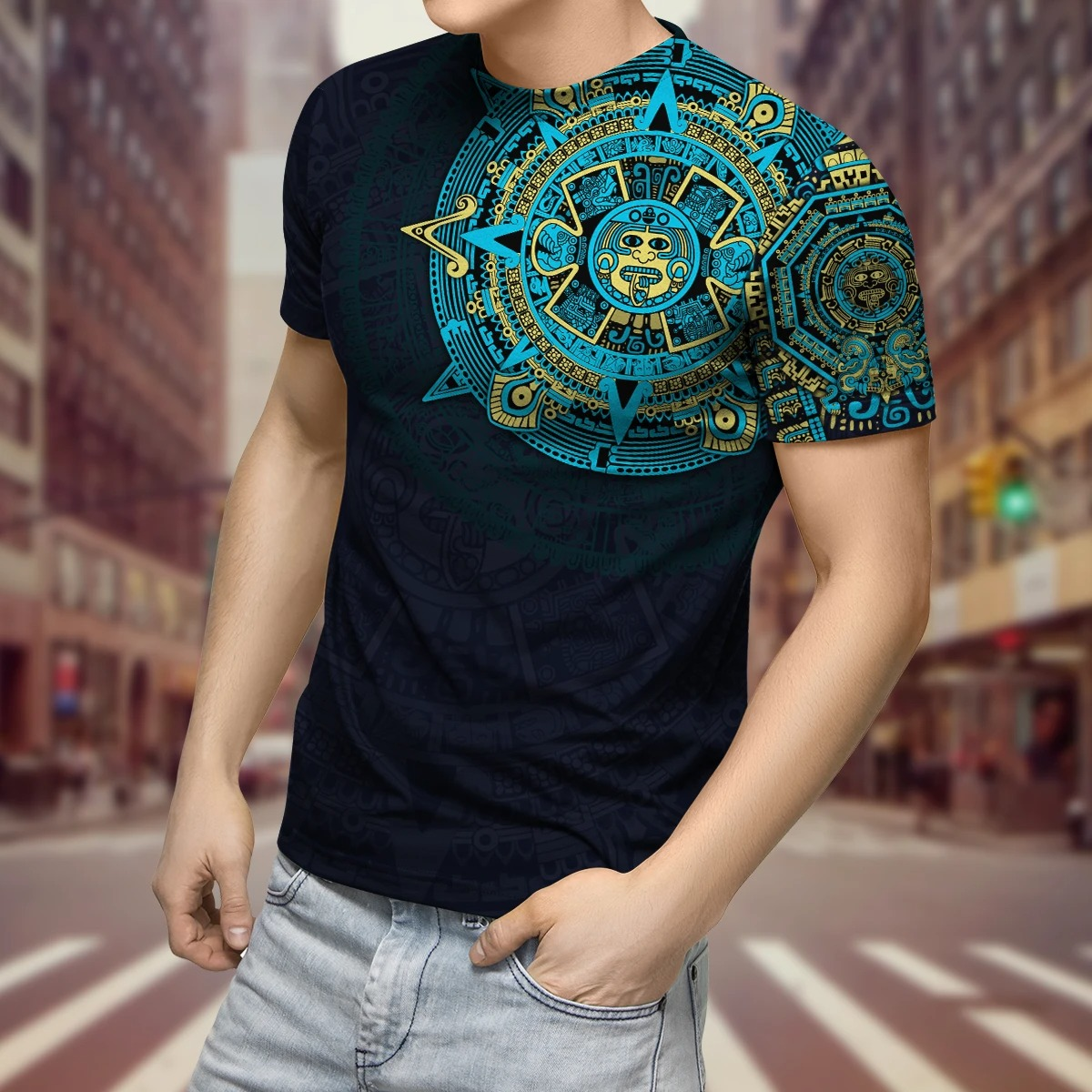 Aztec Mexico 3D over print hoodie and shirt4