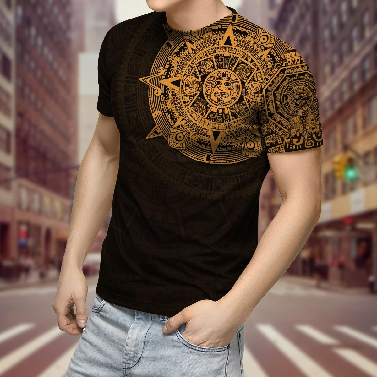 Aztec Mexico 3D over print hoodie and shirt3