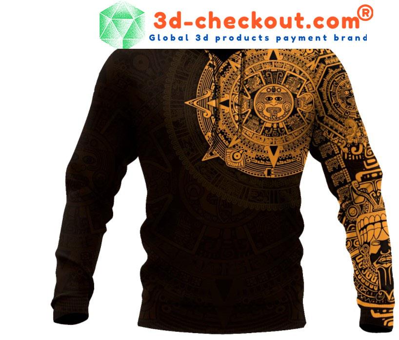 Aztec Mexico 3D over print hoodie1