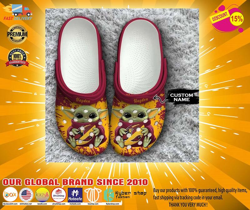 Baby Yoda Arizona Cardinals custom name crocs crocband clog4