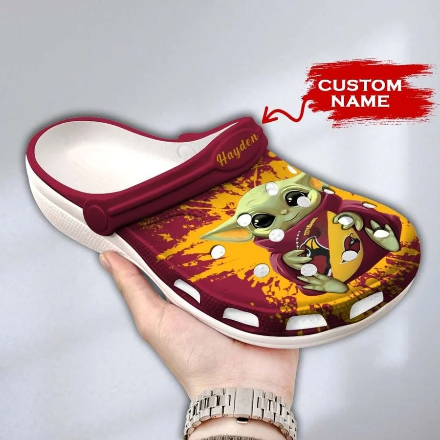 Baby Yoda Arizona Cardinals custom name crocs crocband clog3