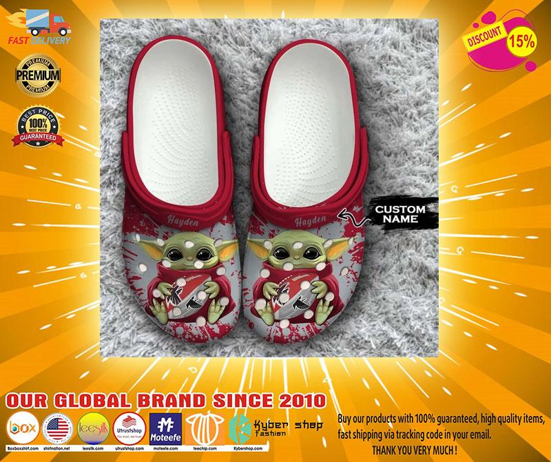 Baby Yoda Atlanta Falcons custom name crocs crocband clog4