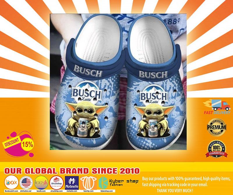 Baby Yoda Hug Busch Latte Crocband Crocs Clog Shoes4