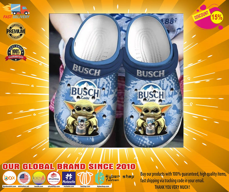 Baby Yoda Hug Busch Latte Crocband Crocs Clog Shoes2