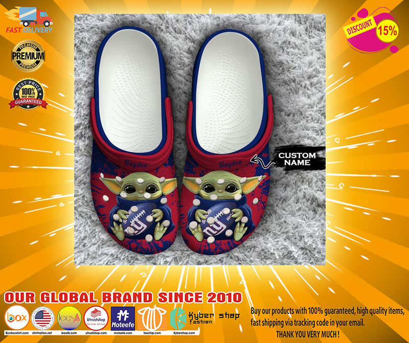 Baby Yoda New York Giants custom name crocs crocband clog4