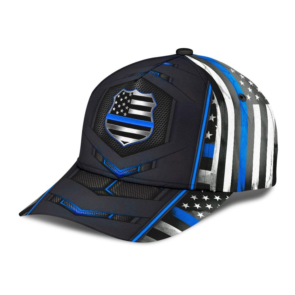 Blue police flag cap2