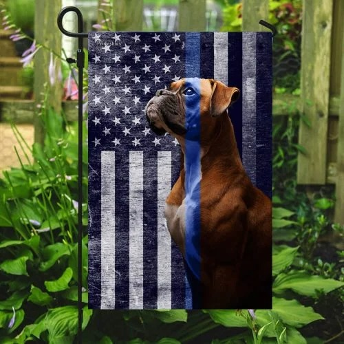Boxer the thin blue line American US flag4
