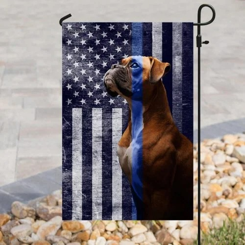 Boxer the thin blue line American US flag3