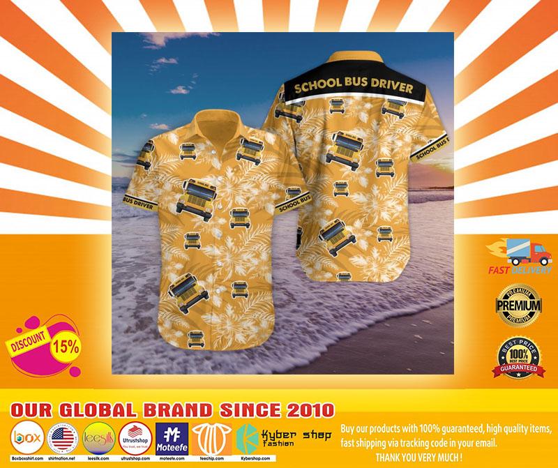 Bus driver tropical hawaiian shirt4
