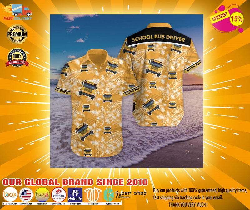 Bus driver tropical hawaiian shirt2