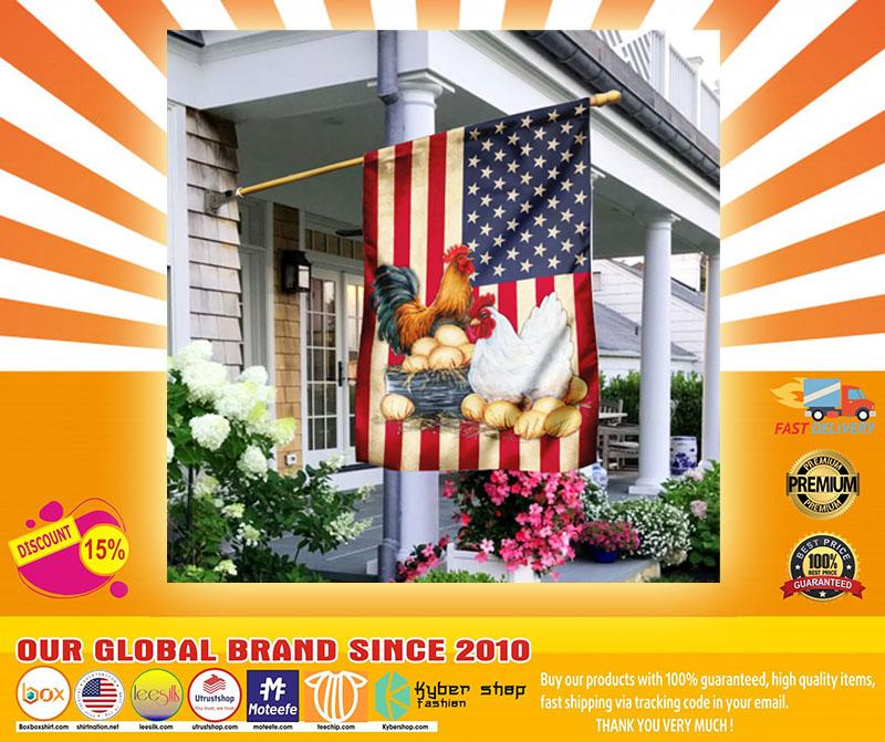 Chicken American flag4