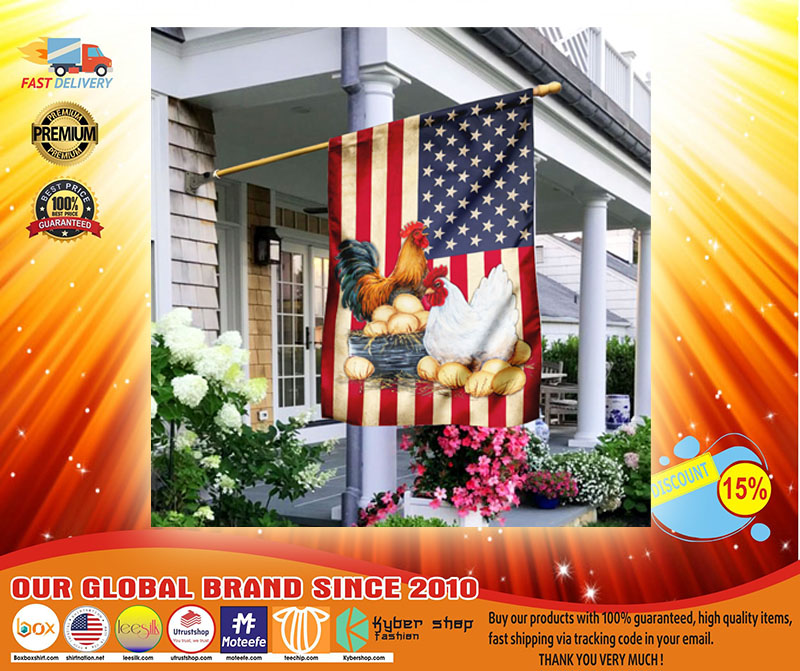 Chicken American flag3