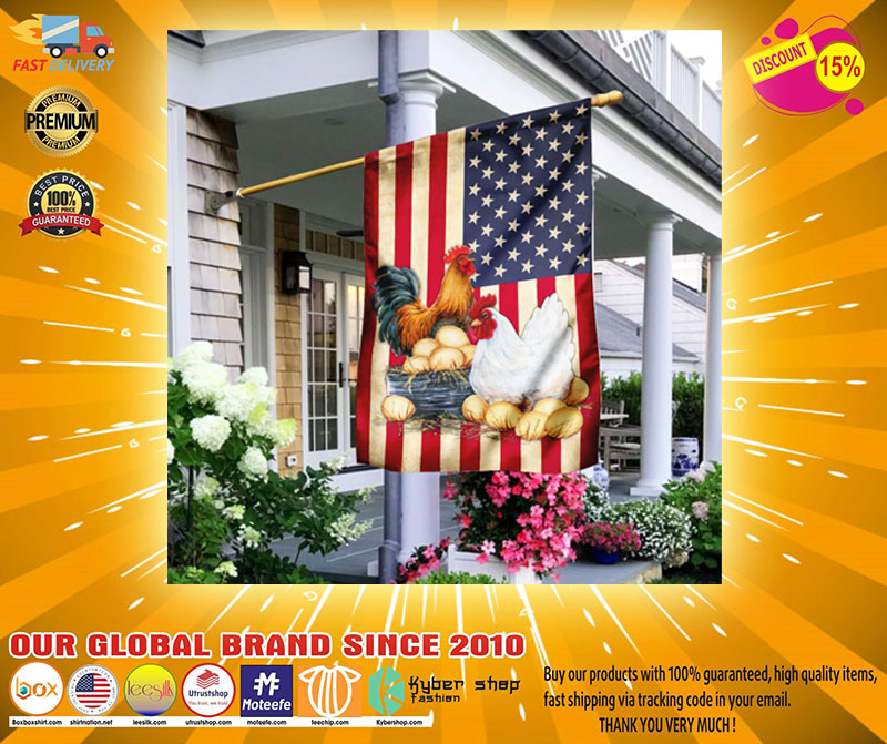 Chicken American flag2