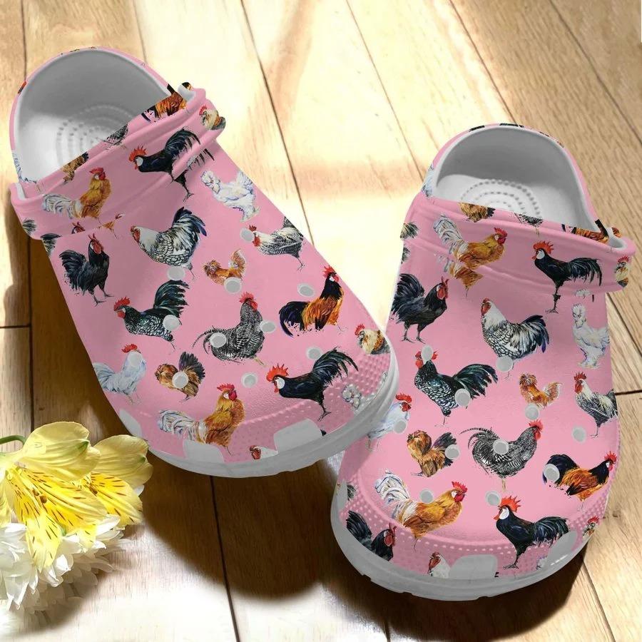 Chicken crocs crocband clog3