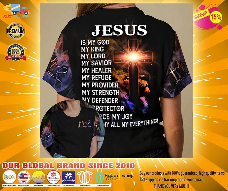 Cross Jesus is my god my king my lord 3D hoodie2