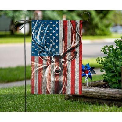 Deer American flag3