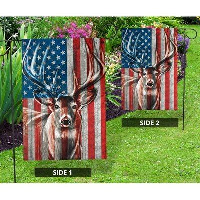 Deer American flag4