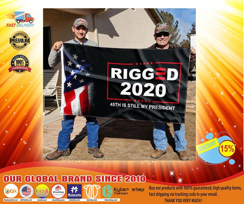 Donald Trump Rigger 2020 45th is still my president flag3