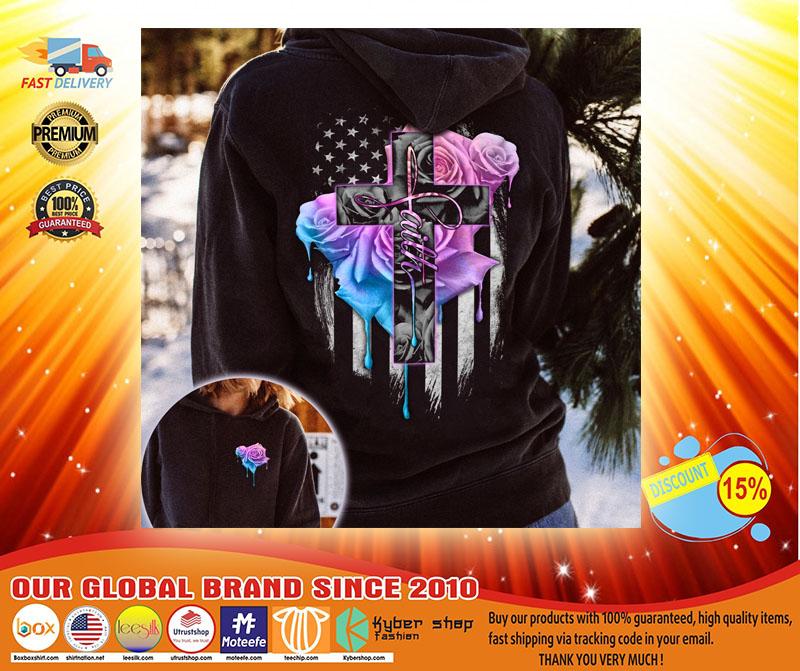 Faith rose skull watercolor 3D hoodie3