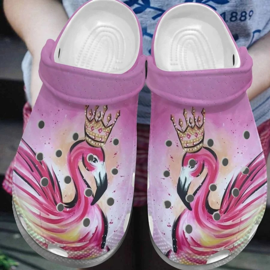 Flamingo crocs crocband clog3