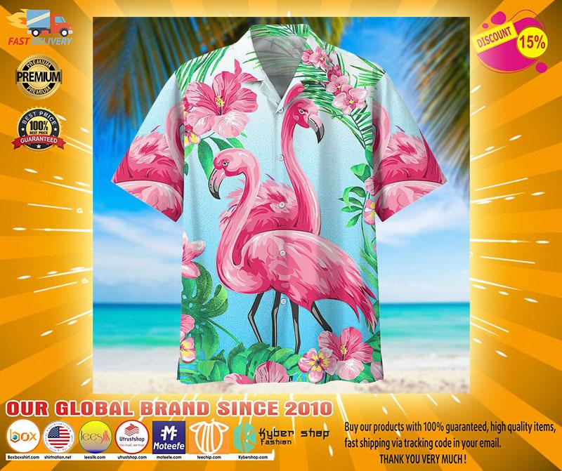 Flamingo hawaiian shirt3
