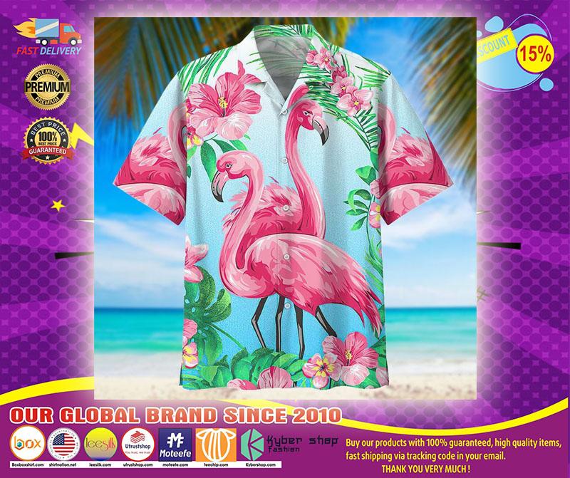 Flamingo hawaiian shirt1