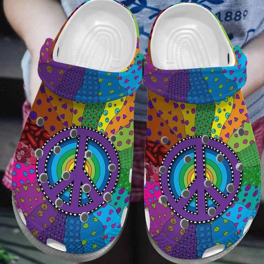 Flower hippe soul crocs crocband clog4