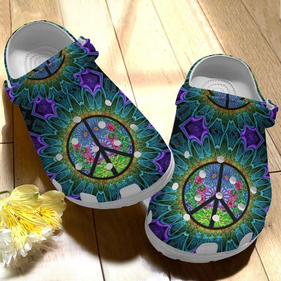 Flower hippe soul crocs crocband clog3