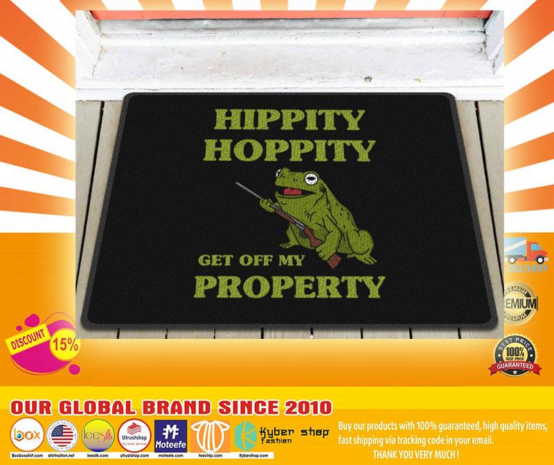 Frog hippity hoppity get off my property doormat4