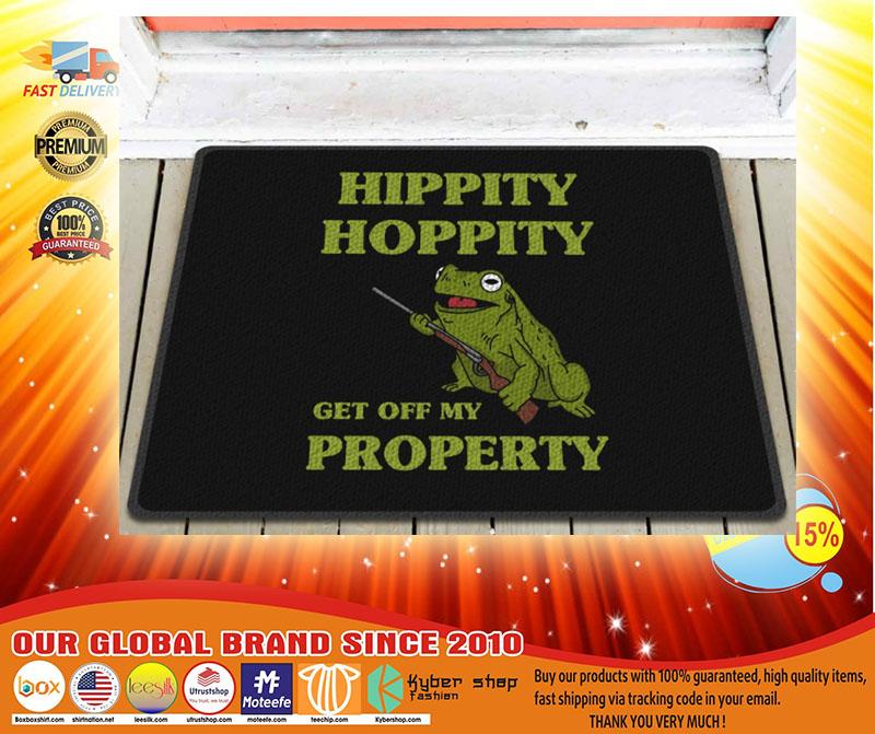 Frog hippity hoppity get off my property doormat3