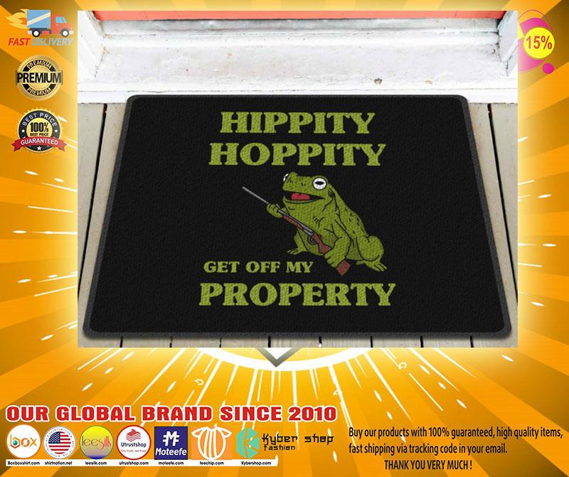 Frog hippity hoppity get off my property doormat2