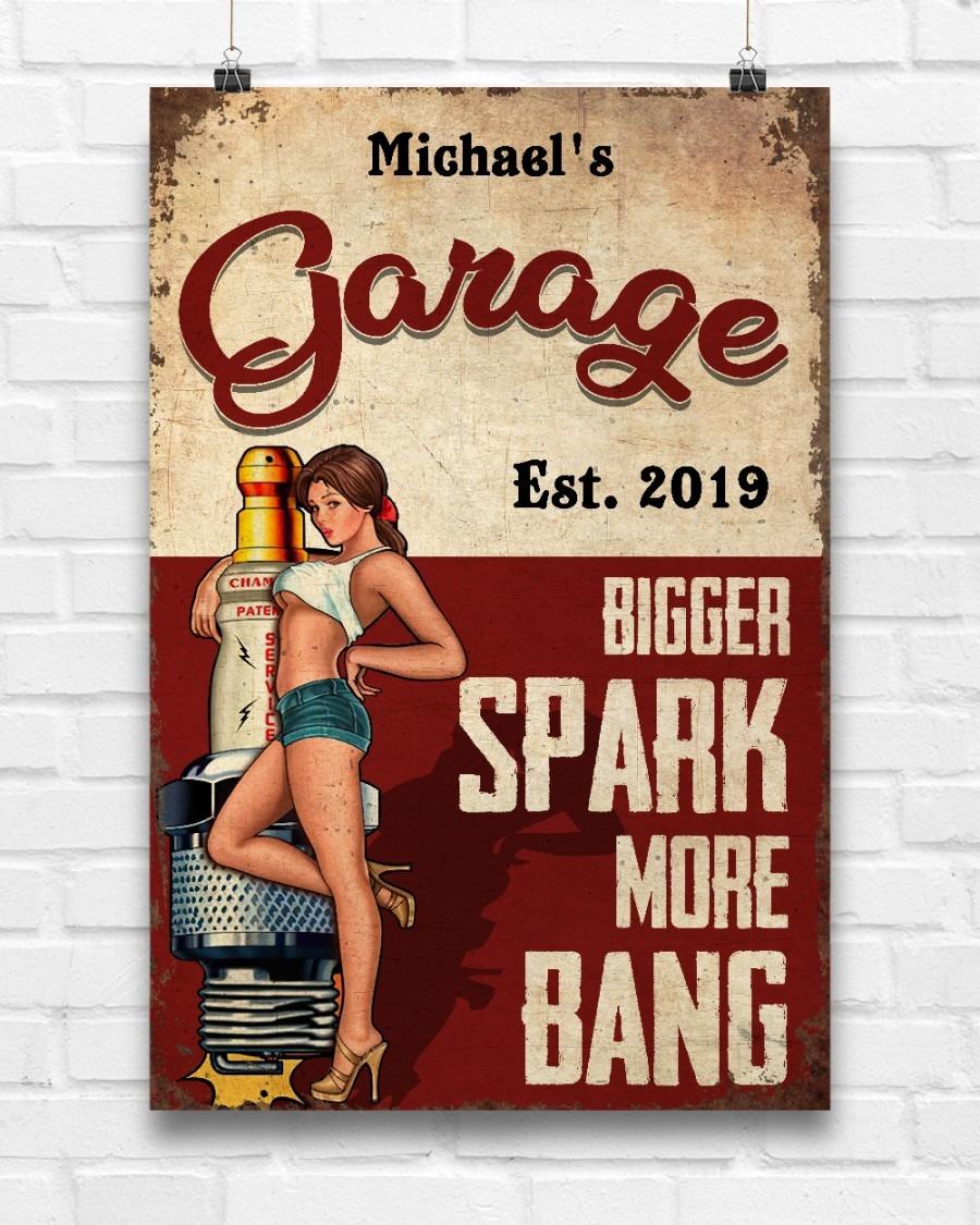 Garage est 2019 bigger spark more bang custom poster2