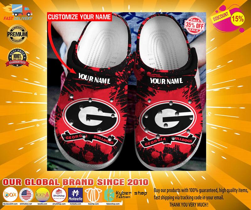 Georgia Bulldogs custom name crocs crocband clog4
