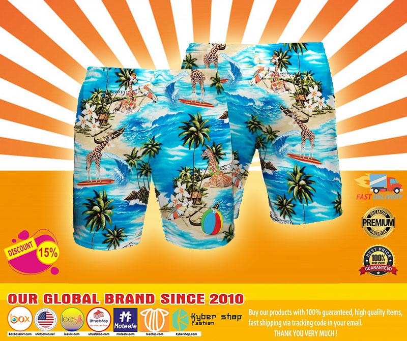 Giraffe Beach hawaiian short4