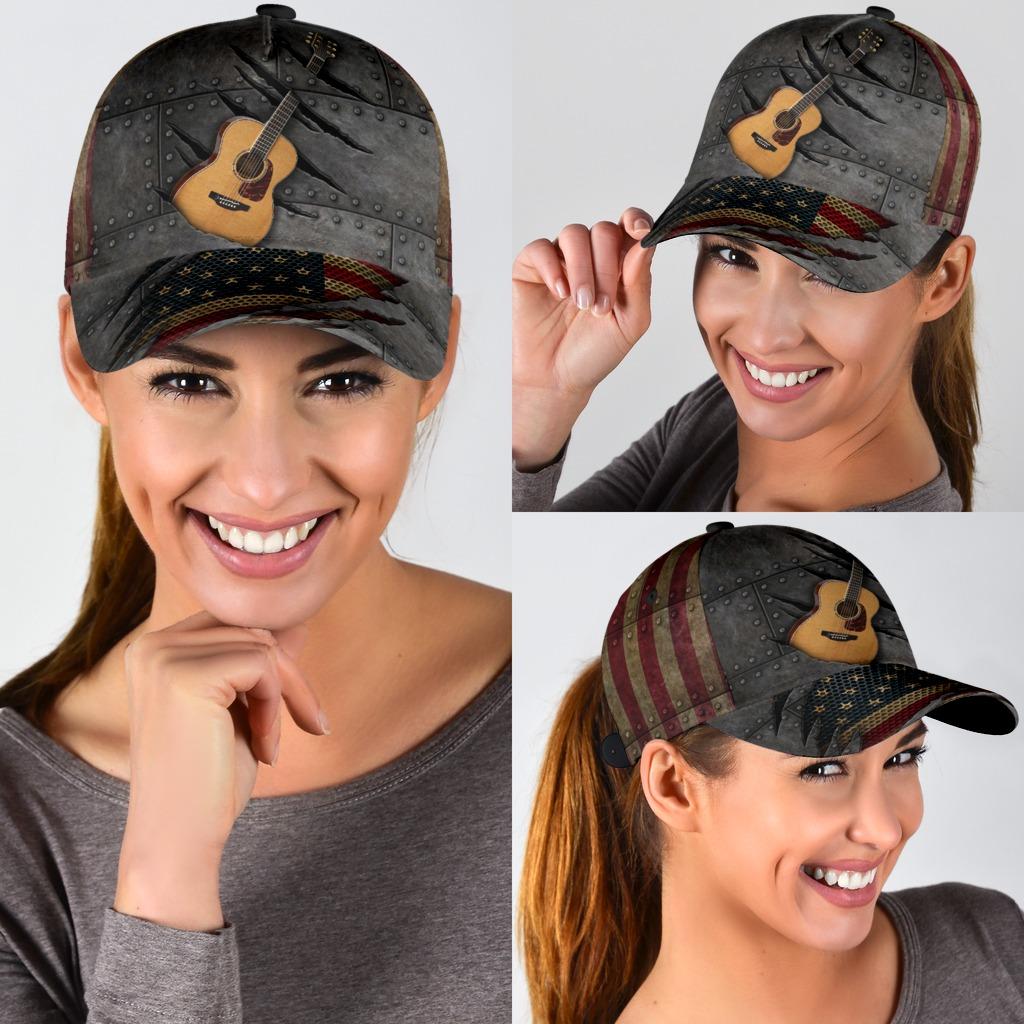 Guitar American flag cap3