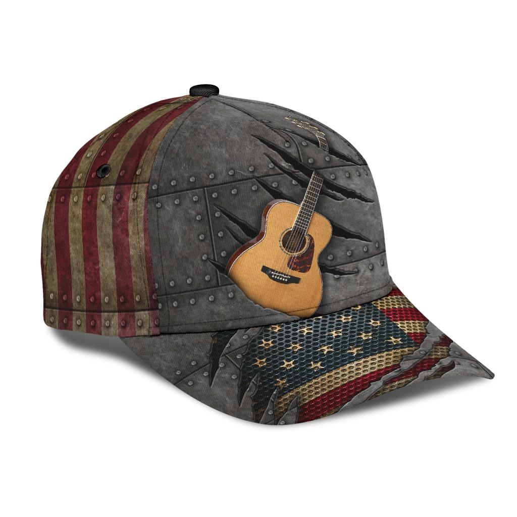 Guitar American flag cap2