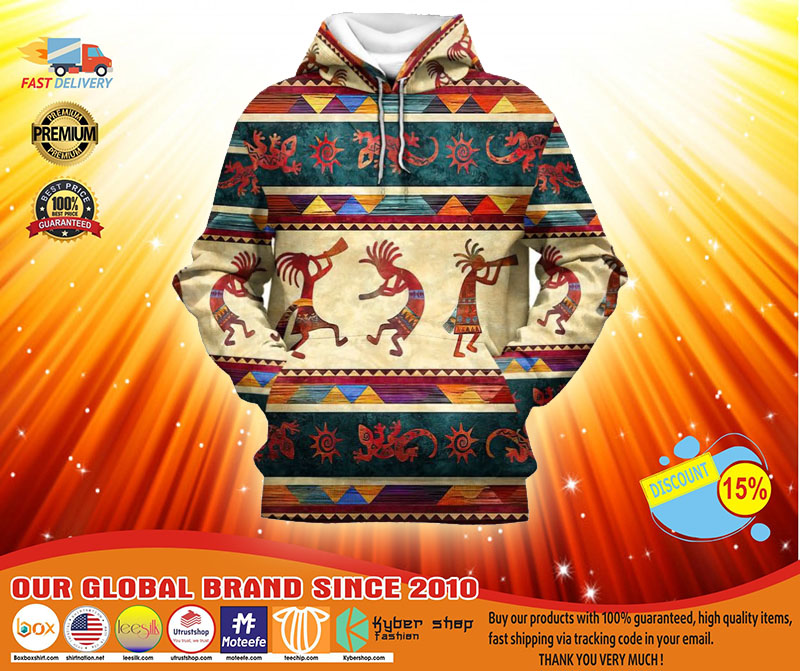 Indigenous native 3D hoodie and shirt4