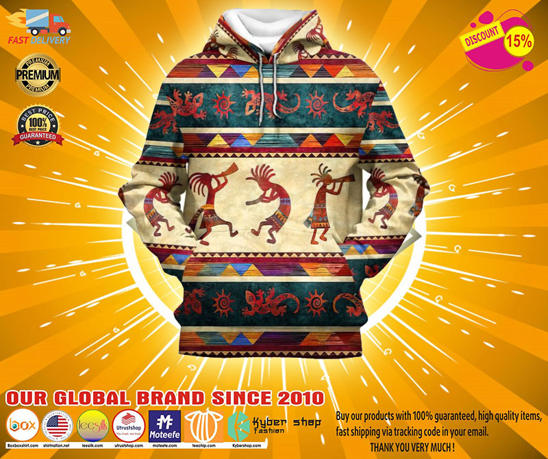 Indigenous native 3D hoodie and shirt3