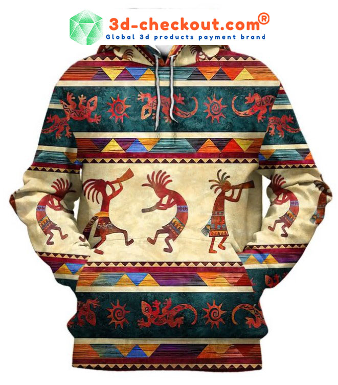 Indigenous native 3D hoodie and shirt2